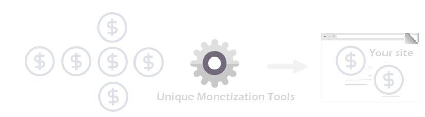Unique Monetization tools